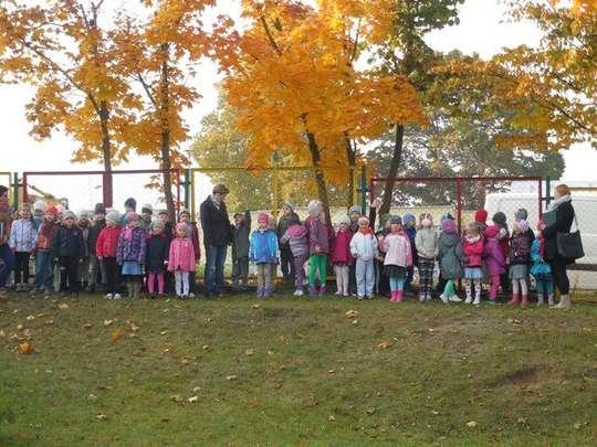 Próbna ewakuacja przeciwpożarowa w przedszkolu