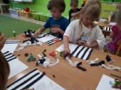 Zebra na zebrze - praca plastyczna Słoneczek